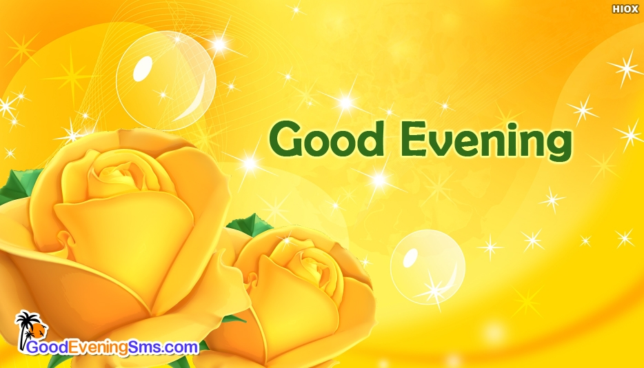 Good Evening Yellow Rose - Good Evening SMS for Love