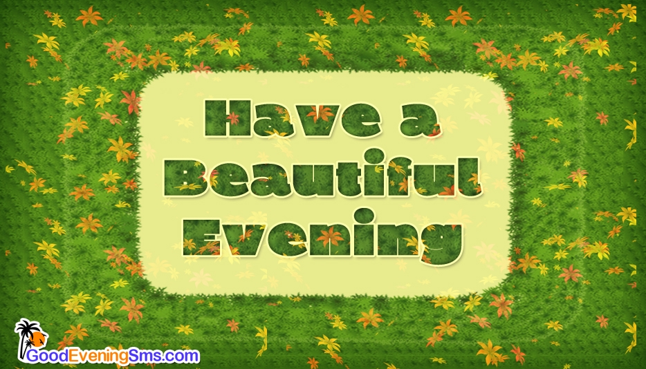 Have a Beautiful Evening  - Good Evening Sms