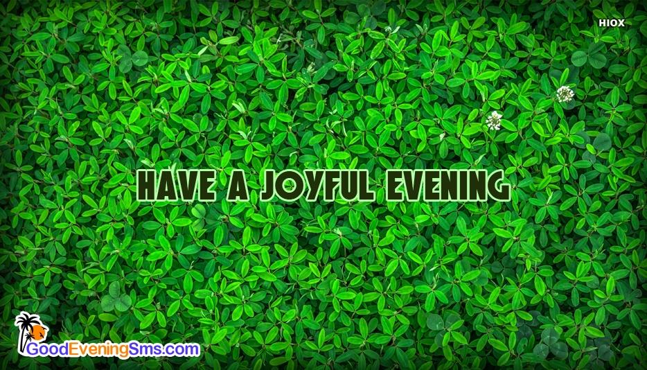Have A Joyful Evening