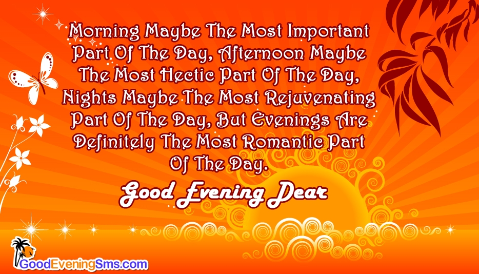 Have a Romantic Evening @ Goodeveningsms.com