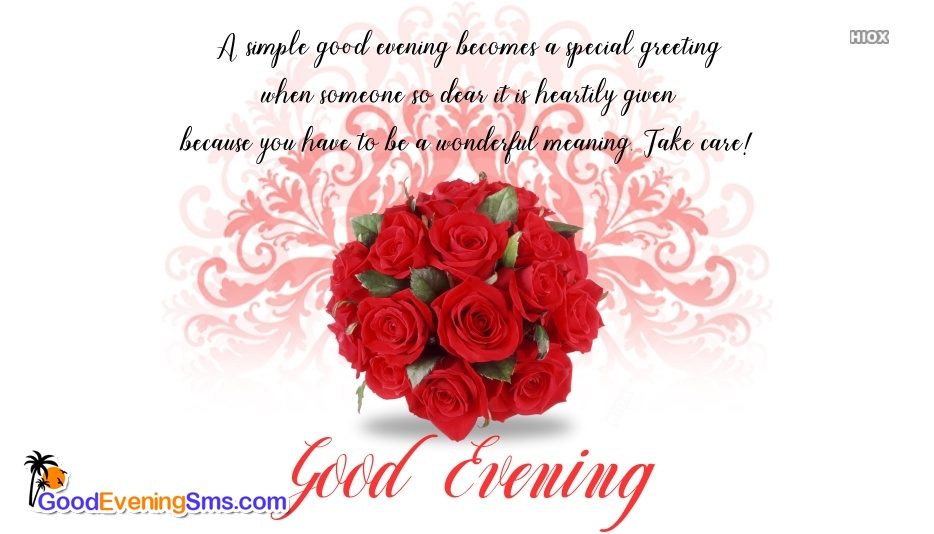 Good Evening SMS for Hearty