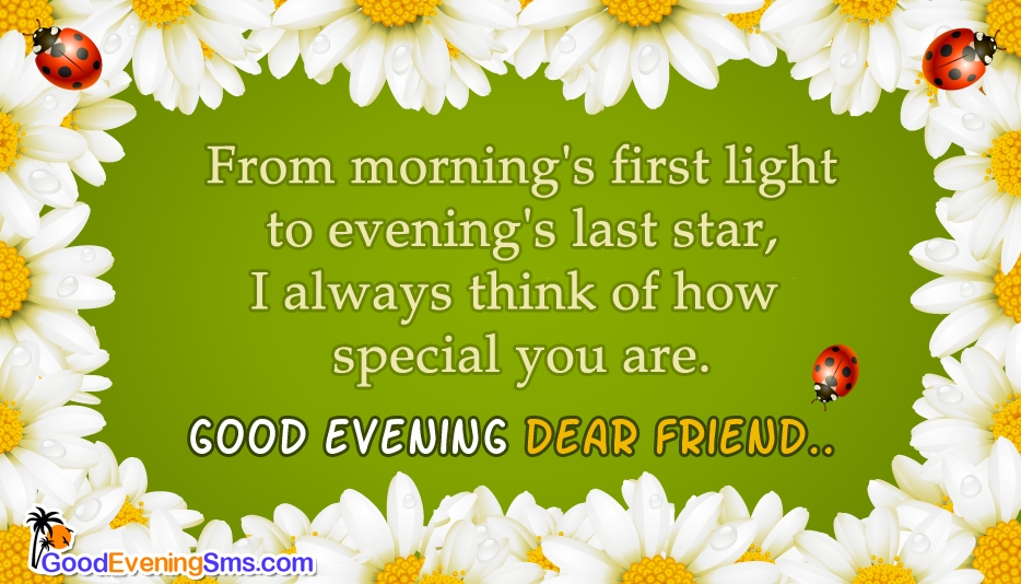Sweet Good Evening SMS