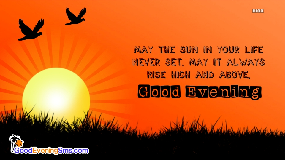 Good Evening SMS for Sunshine
