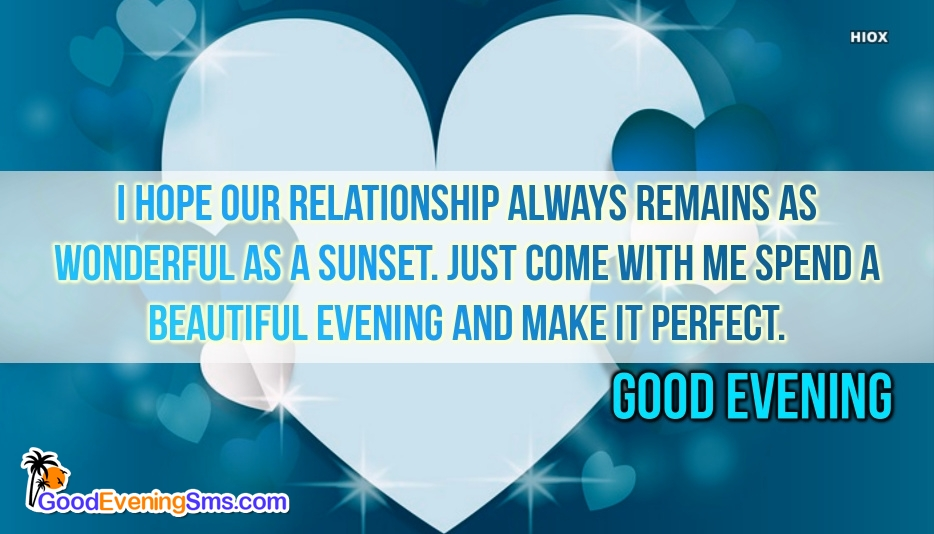 Good Evening SMS for Beautiful Evening