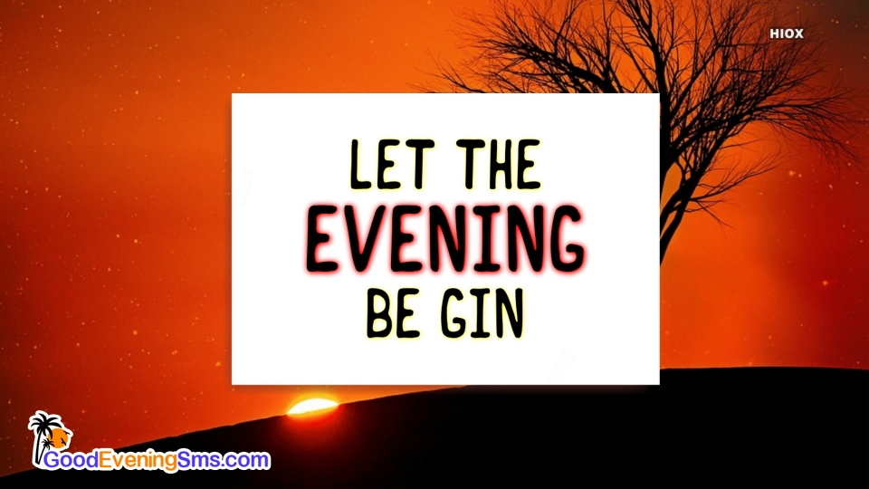Good Evening SMS for Evening Sun