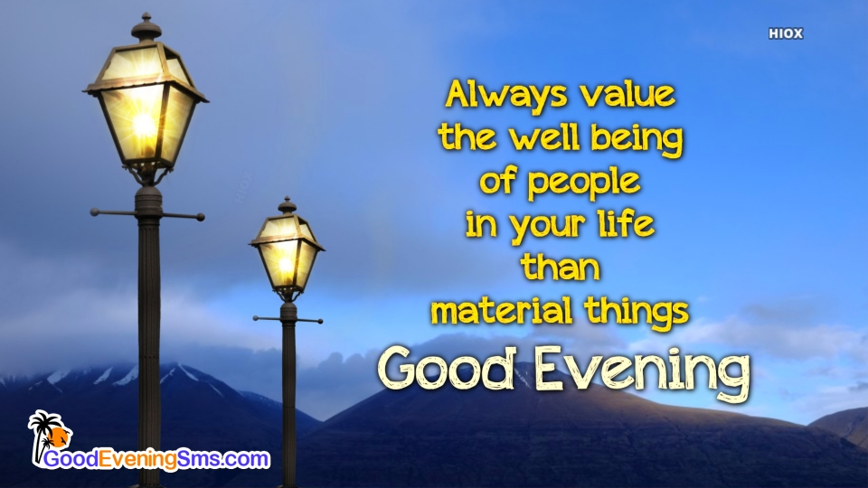 Good Evening SMS for Love People