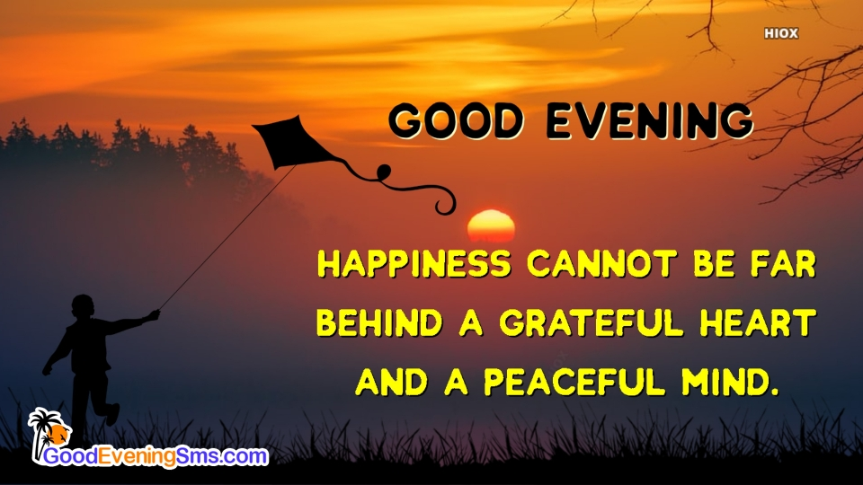 Lovely Pic with Good Evening Wishes Quotes