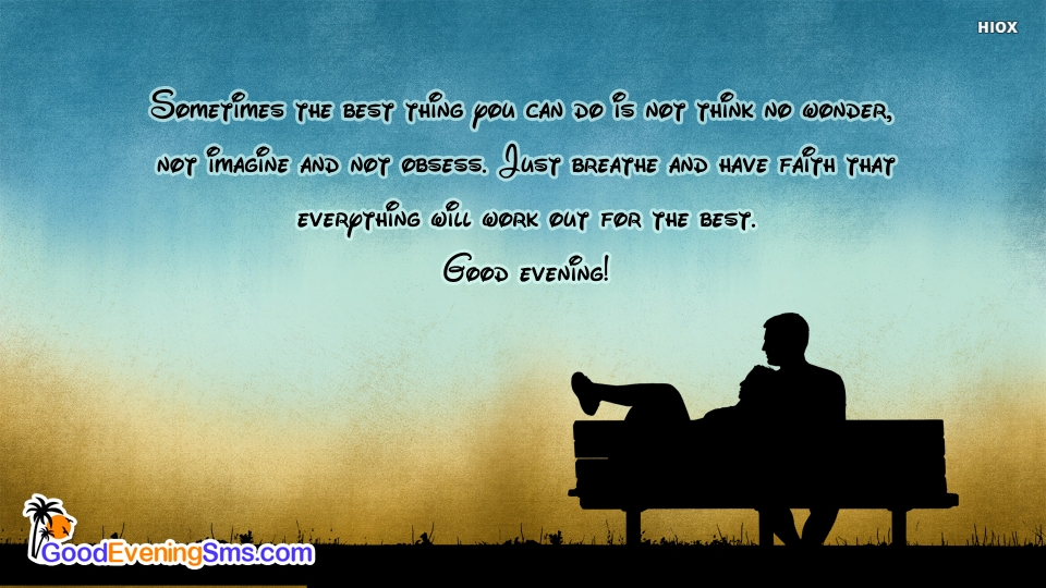 Good Evening SMS for Meaningful Quotes