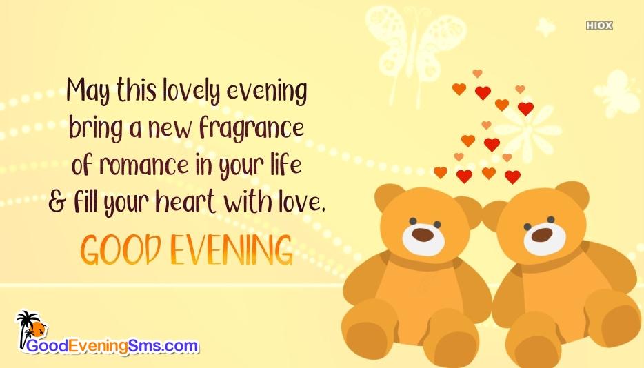 Good Evening SMS for Lovely