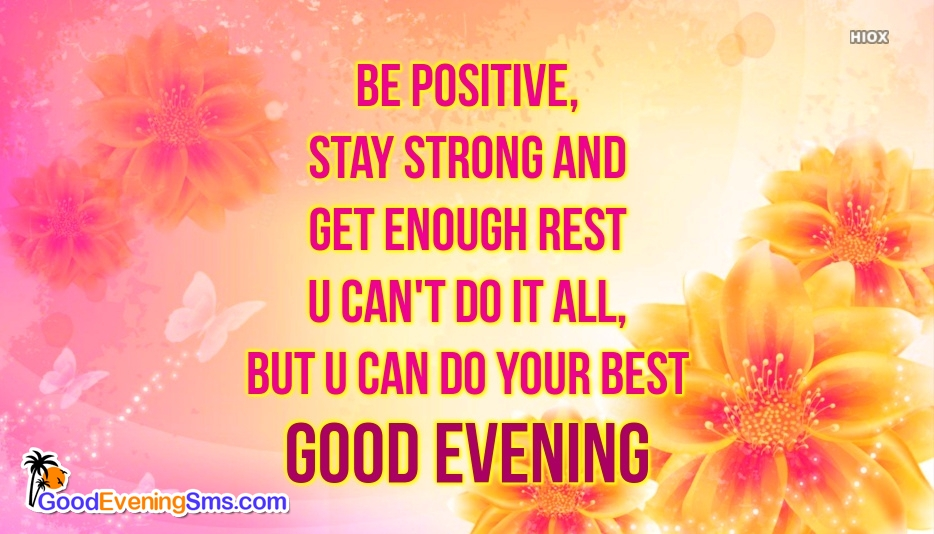 Good Evening SMS for Evening Wishes