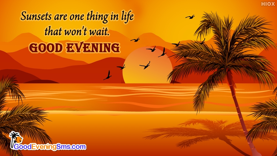 Good Evening SMS for Sun