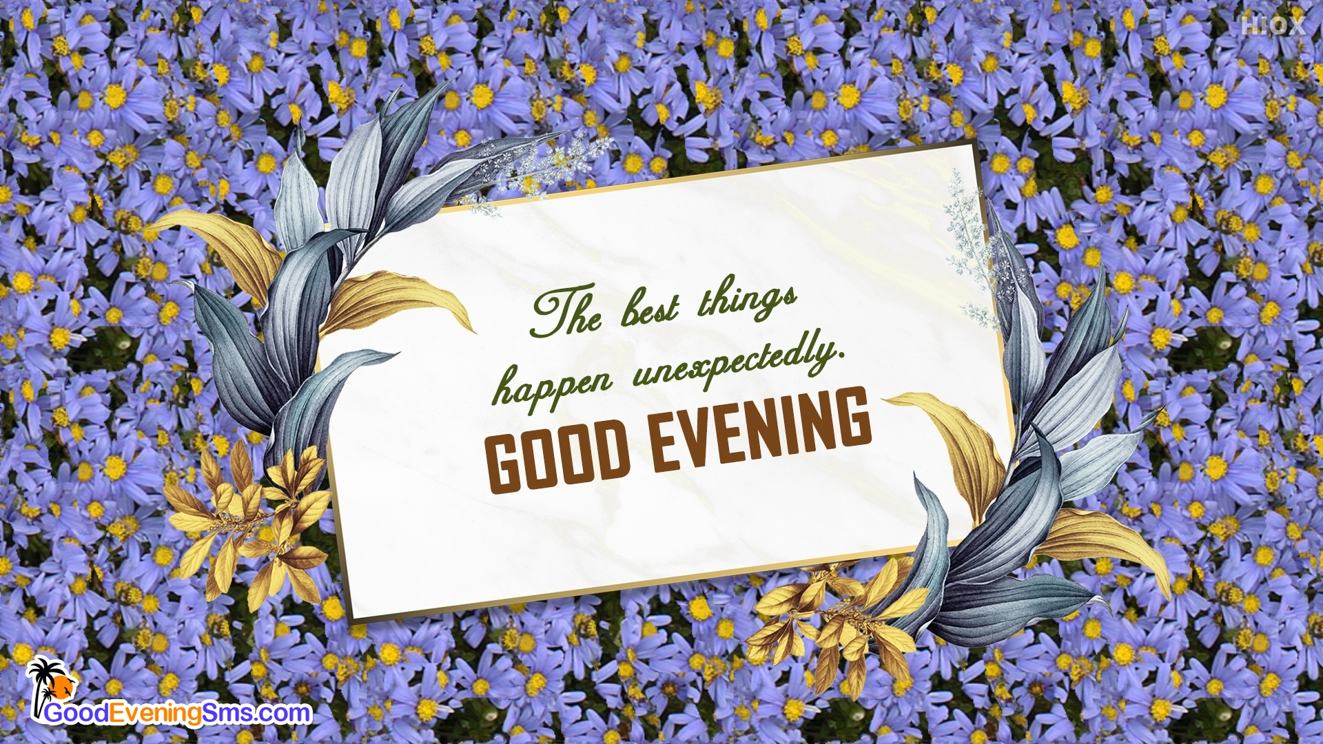 The Best Things Happen Unexpectedly. Good Evening.