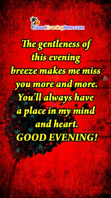 Miss You Message with Evening Greetings