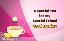 Good Evening SMS For Best Friend With Picture