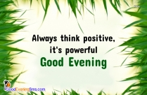 Always Think Positive Quotes