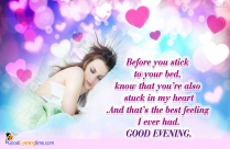 Heart Touching Love Quotes With Evening Greetings