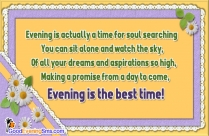 lovely good evening sms