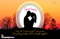 Good Evening Dear Image With Love Romance Quotes