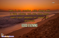 Good Evening Message For Friend