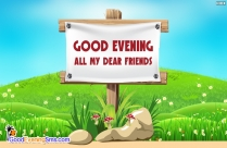 good evening sms to my best friend
