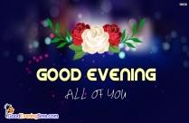 Good Evening Wonderful
