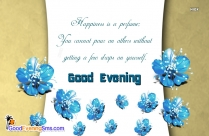 Good Evening Blue Flower