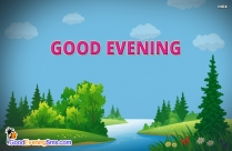 Good Evening Cartoon Image