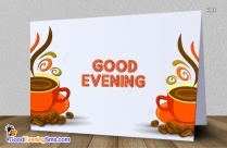 Good Evening Coffee Cup Image