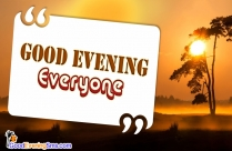 Good Evening Images For All