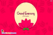 Good Evening All Of You