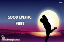 Good Evening Hubby Greeting