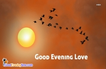Good Evening Love Message