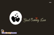 Cartoon Good Evening Love Image
