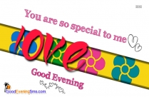romantic good evening sms