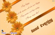 Happy Good Evening Quotes