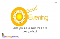 Good Evening Message Image