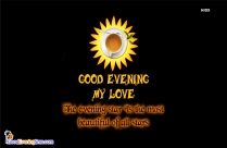 Good Evening My Love Message