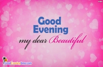 Good Evening My Dear Beautiful Image