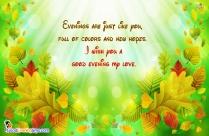 Good Evening Love Message