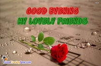 Good Evening Dear Friend SMS Messages
