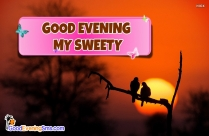 Good Evening My Sweety Image