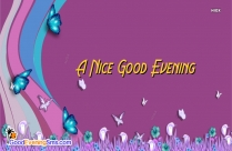 Good Evening Nice Quotes