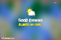 Good Evening Wishes In Yellow Background