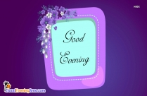 Good Evening English
