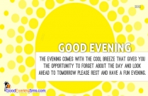 Good Evening Quotation