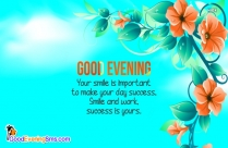 Hearty Good Evening Wishes Message