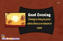 Good Evening Sms Image Free Download