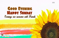 Good Evening Sunday Quotes