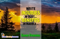 Good Evening SMS Messages Image