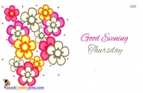 Good Evening Flowers Greetings